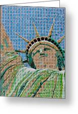 Stampue Of Liberty Greeting Card