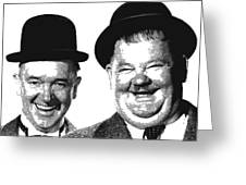 Stan And Ollie - Parallel Hatching Greeting Card