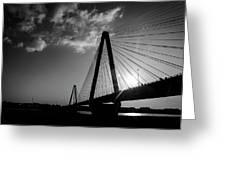 Stan Musial Bridge St Louis Mo Black And White_dsc4591_16_65 Greeting Card