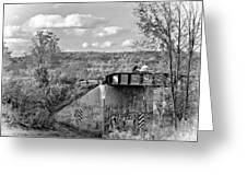 Stand By Me - Paint Bw Greeting Card