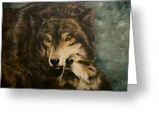 Stand By Me - Wolves Greeting Card