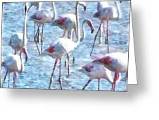 Stand Out In The Crowd Flamingo Watercolor Greeting Card