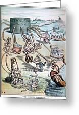 Standard Oil Cartoon Greeting Card