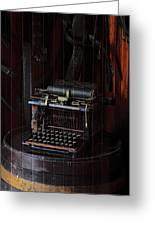 Standard Typewriter Greeting Card by Viktor Savchenko