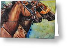 Standardbred Trotter Pacer Painting Greeting Card