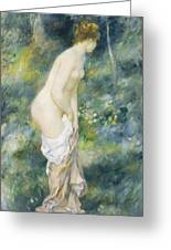 Standing Bather Greeting Card