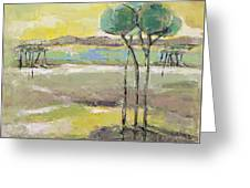Standing In Distance Greeting Card