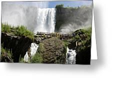 Standing Below Bridal Veil Falls Greeting Card
