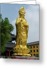 Standing Budda At Mi Tuo Shi Greeting Card