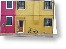 Standing By For A Quick Get Away In Burano Italy Greeting Card