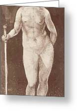 Standing Female Nude With Baton In The Right Greeting Card