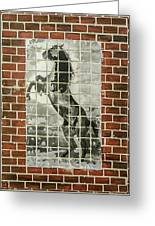 Standing Horse Greeting Card