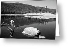 Standing In Comanche Reservoir Greeting Card