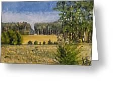 Standing In Howards Farm Greeting Card