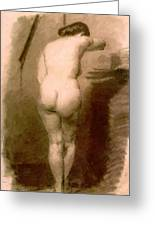 Standing Nude 1876 Greeting Card