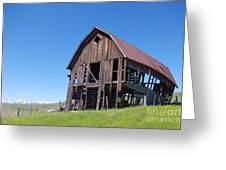 Standing Old Wooden Barn  Greeting Card