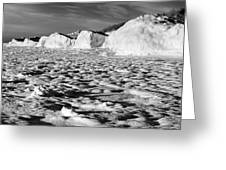 Standing On Lake Michigan Ice Greeting Card