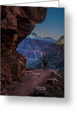 Standing On The Edge Of The Earth Greeting Card