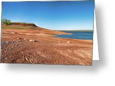 Standing On The Lakebed Greeting Card