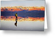 Standing On Water Greeting Card