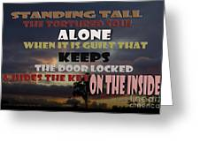 Standing Tall Alone Greeting Card