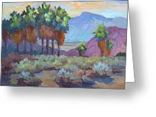 Standing Tall At Thousand Palms Greeting Card