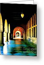 Stanford U Hallway Greeting Card