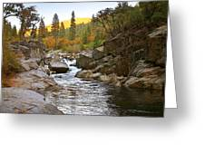 Stanislaus Fall Sunset Looking East Greeting Card