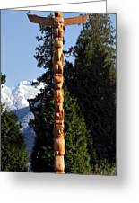 Stanley Park Totem Pole Vancouver Greeting Card