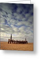 St.annes Beach, Lancashire, England Greeting Card