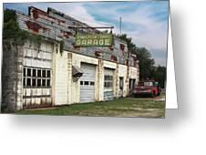 Stans Motor Service Garage Greeting Card