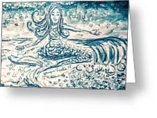 Star Bearer Mermaid Greeting Card by Monique Faella