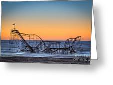 Star Jet Roller Coaster Ride  Greeting Card