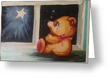 Star Light Bear Greeting Card