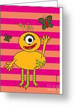 Star Monster Greeting Card