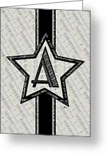 Star Of The Show Art Deco Monogram Greeting Card