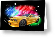 Star Of The Show - Mustang Gtr Greeting Card
