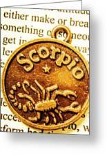 Star Sign In Scorpio Greeting Card