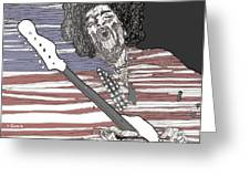 Star Spangled Banner Greeting Card by David Fossaceca