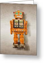 Star Strider Robot Orange Greeting Card