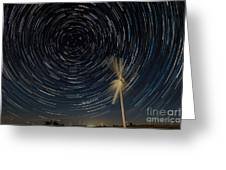 Star Trail In Hays, Ks Greeting Card