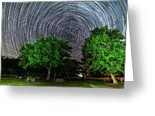 Star Trails At Sunken Meadow State Park Greeting Card