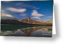 Star Trails Behind Mount Chephren Greeting Card