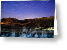 Star Trails Over Hauser Greeting Card