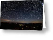 Star Trails Over Whitesburg Greeting Card