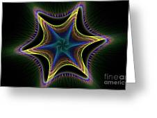 Star Twist Spiral Greeting Card