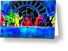 Star Wars Empire Last Supper - Pa Greeting Card
