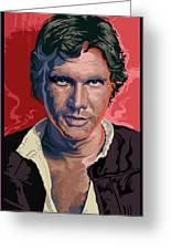 Star Wars Han Solo Pop Art Portrait Greeting Card