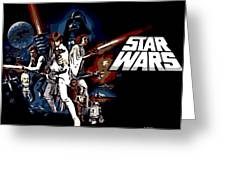 Star Wars Movie Poster Greeting Card