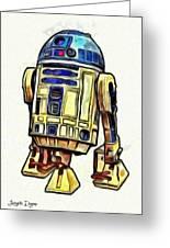Star Wars R2d2 Droid - Da Greeting Card